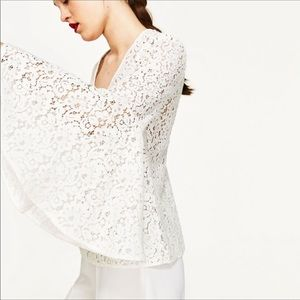 Zara Lace Top with Bell Sleeves